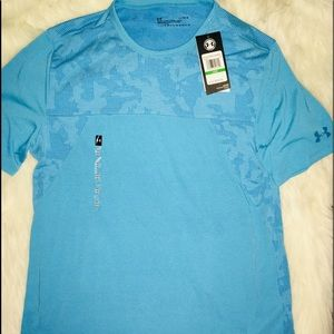 Under Armour Turquoise Camouflage mix SS shirt LG